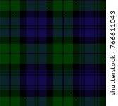 scottish plaid in green  black  ... | Shutterstock .eps vector #766611043
