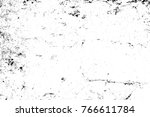 grunge black and white pattern. ... | Shutterstock . vector #766611784