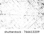 grunge black and white pattern. ... | Shutterstock . vector #766613209