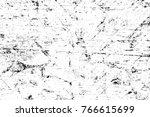 grunge black and white pattern. ... | Shutterstock . vector #766615699