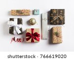 christmas holiday gift box new...   Shutterstock . vector #766619020