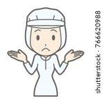 female workers wearing white... | Shutterstock .eps vector #766620988