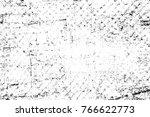 grunge black and white pattern. ... | Shutterstock . vector #766622773