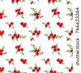 seamless floral pattern.... | Shutterstock .eps vector #766623364