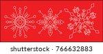 snowflakes set vector. white on ... | Shutterstock .eps vector #766632883