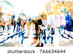 crowd of anonymous people... | Shutterstock . vector #766634644