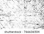 grunge black and white pattern. ... | Shutterstock . vector #766636504