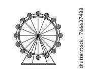 attraction ferris wheel... | Shutterstock .eps vector #766637488