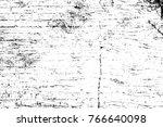 grunge black and white pattern. ... | Shutterstock . vector #766640098