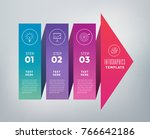 three steps infographics   can... | Shutterstock .eps vector #766642186