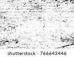 grunge black and white pattern. ... | Shutterstock . vector #766643446