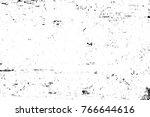 grunge black and white pattern. ... | Shutterstock . vector #766644616