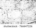 grunge black and white pattern. ... | Shutterstock . vector #766647226
