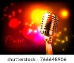 vector poster for music... | Shutterstock .eps vector #766648906