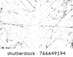 grunge black and white pattern. ... | Shutterstock . vector #766649194
