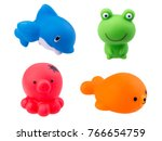 rubber bath toys isolated on... | Shutterstock . vector #766654759