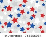 abstract usa stars seamless... | Shutterstock .eps vector #766666084