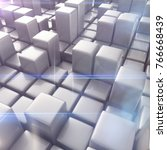 abstract background of cubes in ... | Shutterstock . vector #766668439