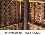 Roof Made Of Dry Coconut Leaf...
