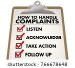 how to handle complaints...   Shutterstock . vector #766678648