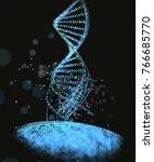 3d illustration. genetic code... | Shutterstock . vector #766685770