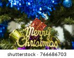 christmas trees and merry...   Shutterstock . vector #766686703