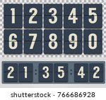 countdown timer. vector image.... | Shutterstock .eps vector #766686928