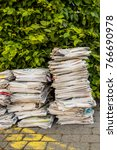stack of old paper. old... | Shutterstock . vector #766690978