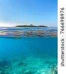 Seascape With Island  Sea...