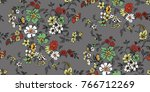 seamless floral pattern in... | Shutterstock .eps vector #766712269