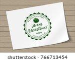 round in frame badge merry...   Shutterstock .eps vector #766713454