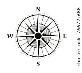 compass wind rose vector design ... | Shutterstock .eps vector #766725688
