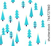 christmas seamless pattern with ... | Shutterstock .eps vector #766727860
