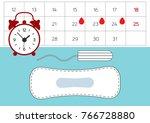 feminine hygiene products ... | Shutterstock .eps vector #766728880