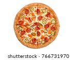 pizza isolated on white... | Shutterstock . vector #766731970