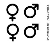male and female symbol set | Shutterstock .eps vector #766739866