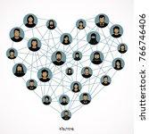 network  networking  social... | Shutterstock .eps vector #766746406
