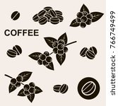 coffee beans set. vector | Shutterstock .eps vector #766749499