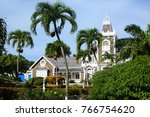 government house  morne fortune ... | Shutterstock . vector #766754620