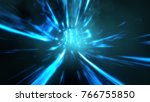 wormhole though time and space. ... | Shutterstock . vector #766755850