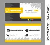 business card modern design... | Shutterstock .eps vector #766759093
