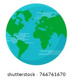 globe earth isolated background ... | Shutterstock .eps vector #766761670