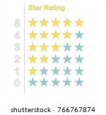 star rating ui icons in vector...