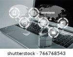 network security  security. | Shutterstock . vector #766768543