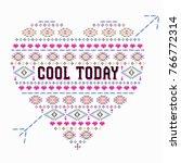 ethnic graphic for t shirt | Shutterstock .eps vector #766772314