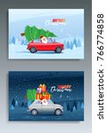 merry christmas winter... | Shutterstock .eps vector #766774858