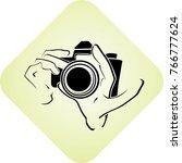 icon of photographer | Shutterstock .eps vector #766777624