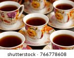 a cup of tea close up. the tea... | Shutterstock . vector #766778608