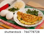 omelette in french and its... | Shutterstock . vector #766778728