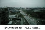 aerial view of big city highway ... | Shutterstock . vector #766778863